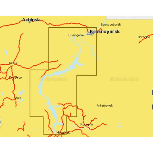 Карта глубин - Красноярское водохранилище