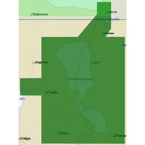 Карта глубин - Чудское-Псковское озёра (Пейпус-Псков)
