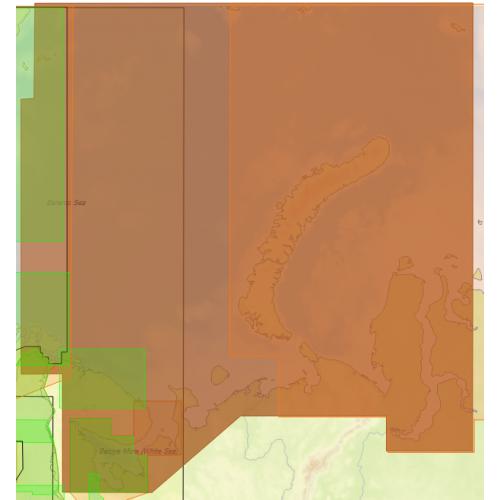Карта глубин - Северо-Западное побережье России