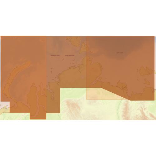 Карта глубин - Северное побережье России: от Новой Земли до пр. Лаптева