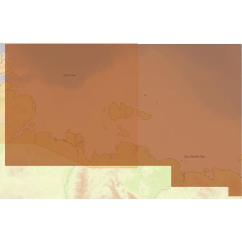 Карта глубин - Северо-Восточное побережье России: от пр. Вильницкого до Берингова пр.