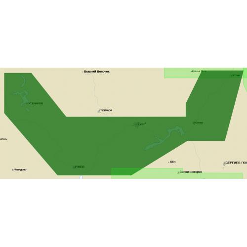 Карта глубин - Тверь-Углич и оз. Селигер