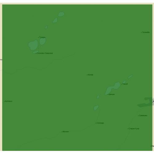 Карта глубин - Сибирские озёра