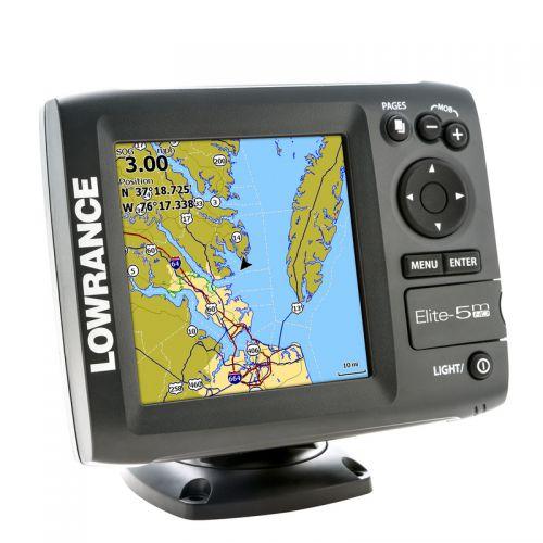 Картплоттер Lowrance Elite-5m HD GPS
