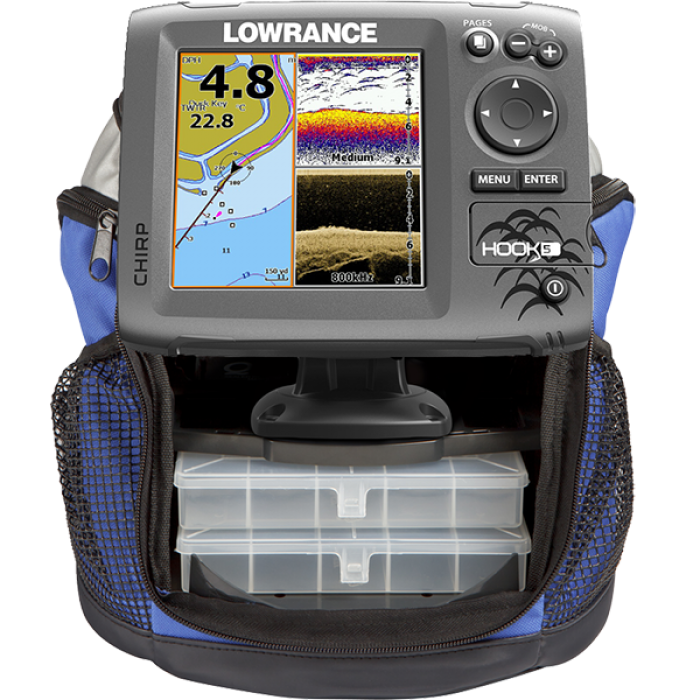 Lowrance HOOK-5 Ice Machine Зимний Эхолот Картплоттер