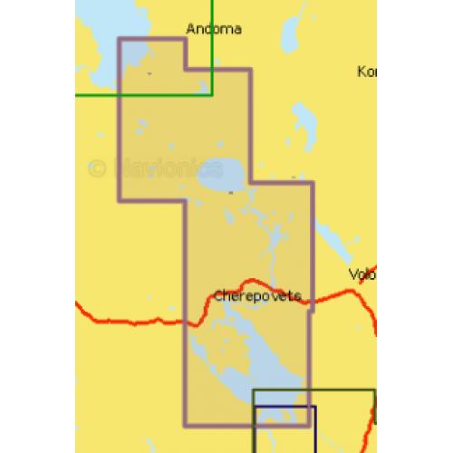 Карта глубин - Волго-Балтийский канал