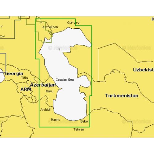 Карта глубин - Каспийское море