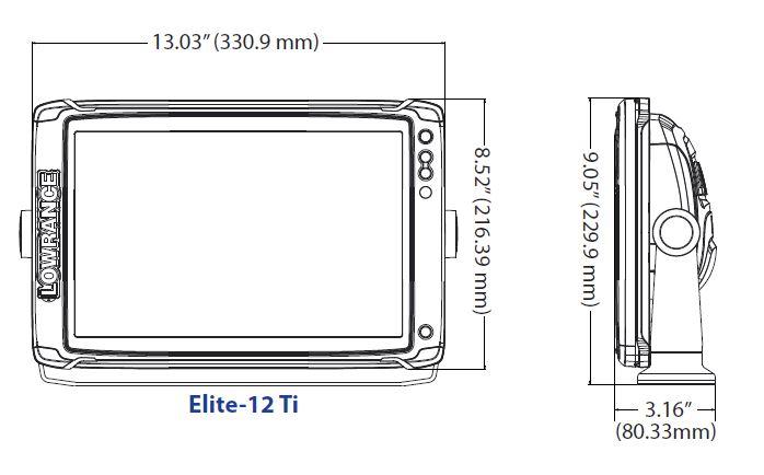 Картинки по запросу LOWRANCE ELITE 12 TI2 размеры
